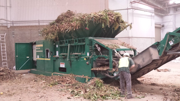 Badger stationary shredding equipment